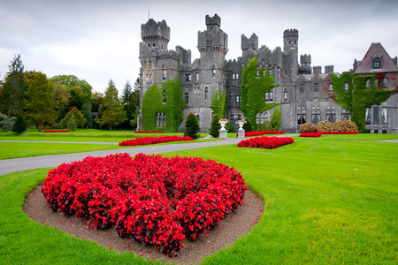 Ashford Castle and gardens in Ireland