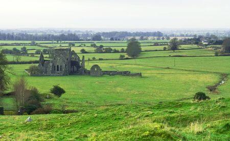 the abbey: Cashel Abbey Stock Photo