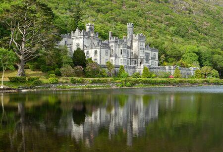 connemara: Kylemore Abbey in Connemara mountains,Ireland