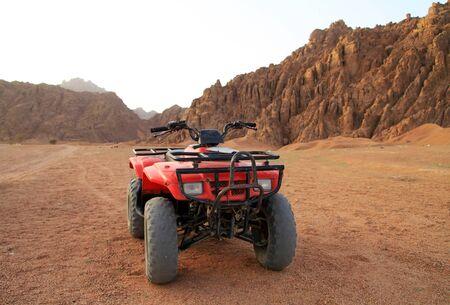 quad: Red quad in Sinai mountains