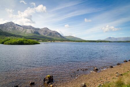connemara: Connemara mountains and lake scenery,Ireland Stock Photo