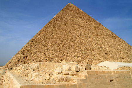egyptology: Cheops Pyramid in Giza,Egypt