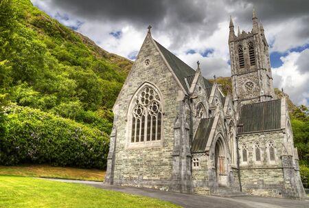 connemara: Gothic church in Connemara mountains