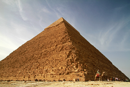 egyptology: Pyramid of Khafre in Giza