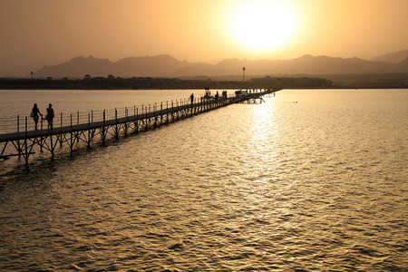 sinai: Sunset over Sinai mountains Stock Photo