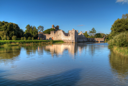 Ruins of castle in Adare,Ireland Stock Photo