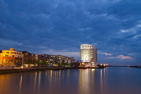 Limerick cityscape at dusk Stock Photo