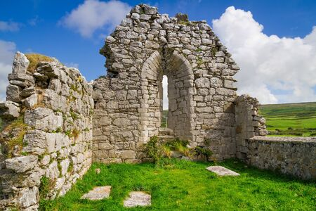 abbey ruins abbey: Abbey ruins in Co. Clare,Ireland Stock Photo