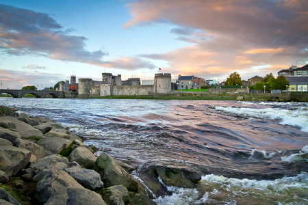 King John Castle at Shannon river in Limerick,Ireland