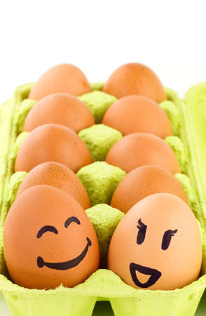 smiley: Eggs with smiley faces