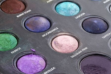 eye shade: Colours of makeup