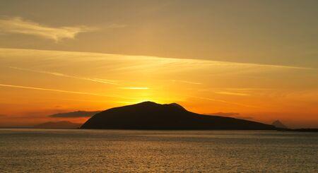 dingle: Sunset over Dunquin bay on Dingle Peninsula, Co.Kerry, Ireland Stock Photo