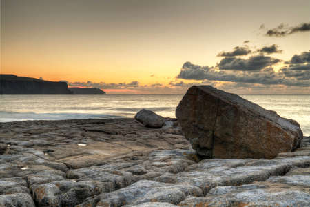 doolin: Cliffs of Moher view at sunset in Ireland Stock Photo
