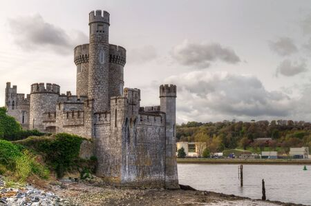 wall clouds: Blackrock Castle and observatory in Cork, Ireland