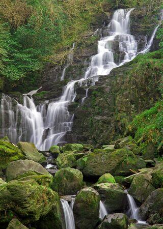 runnel: Torc waterfall in Killarney National Park, Ireland Stock Photo