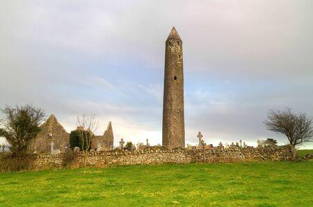 burren: Kilmacduagh monastery in Burren area, Ireland Stock Photo