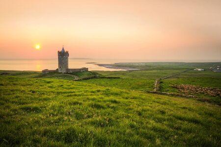 doolin: Doonagore Castle at sunset, Ireland