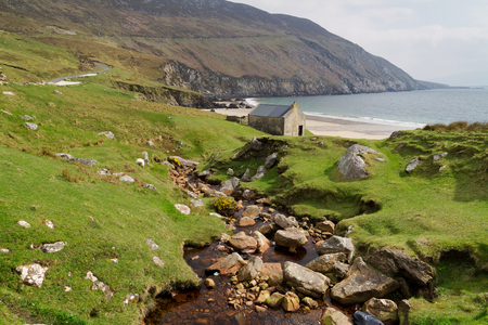 Achill Island, Co. Mayo의 Keem Beach - 아일랜드