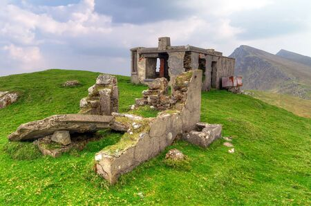 Empty mountain house on Achill Island, Co. Mayo, Ireland Stock Photo