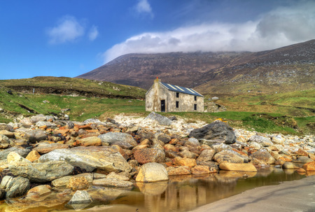 Idyllic scenery of Keem Beach on Achill Island, Co. Mayo, Ireland Stock Photo
