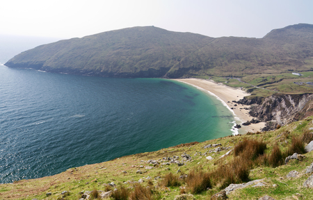 achill: Idyllic Keem Beach on Achill Island, Co. Mayo - Ireland Stock Photo