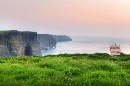 sea cliff: Cliffs of Moher at sunset, Co. Clare, Ireland