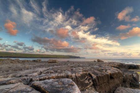 doolin: Atlantic sunset over Burren - Ireland