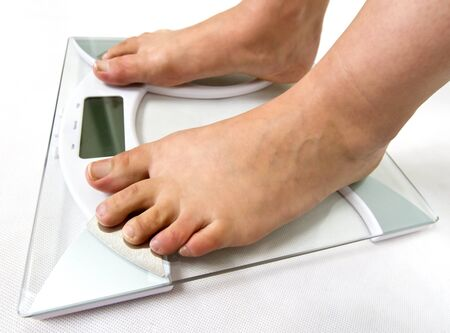 bathroom scale: On the weight scale
