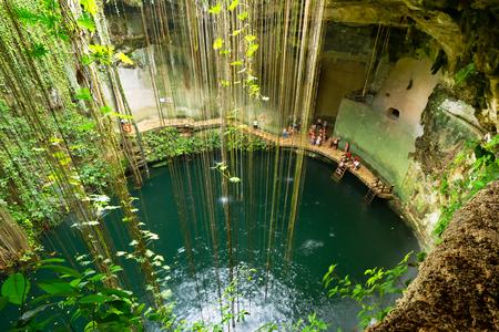 itza: Ik-Kil Cenote near Chichen Itza in Mexico