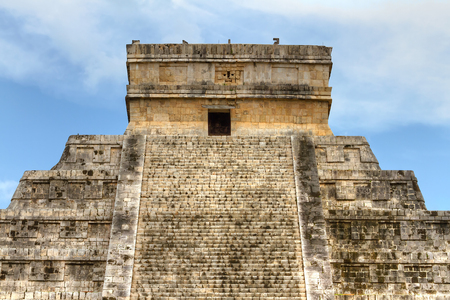 itza: Kukulkan pyramid in Chichen Itza, Mexico Stock Photo