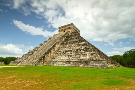 kukulkan: Kukulkan pyramid in Chichen Itza, Mexico Stock Photo