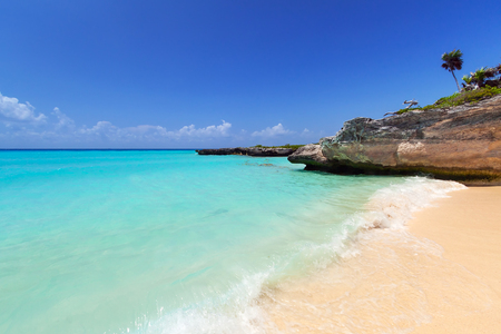 Caribbean Sea beach in Playa del Carmen, Mexico