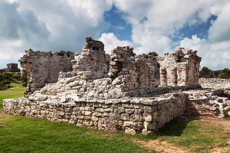 archaeological: Archaeological ruins of Tulum in Mexico