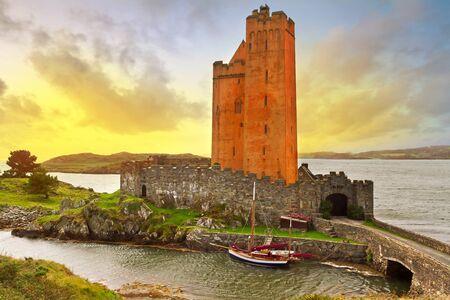 co cork: Kilcoe castle at sunset, Co. Cork, Ireland