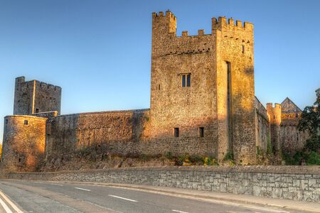 county tipperary: Cahir castle in county Tipperary at sunset, Ireland Editorial