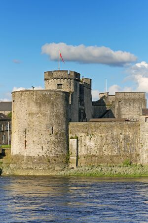 wall clouds: King John Castle in Limerick Editorial