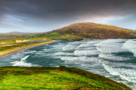 co cork: Barley cove beach in stormy weather, Co. Cork, Ireland