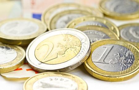 composition: Euro coins composition