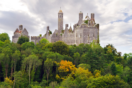 Dromore Castle on the hill in west Ireland