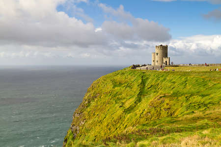 moher: OBriens Tower on Cliffs of Moher Editorial