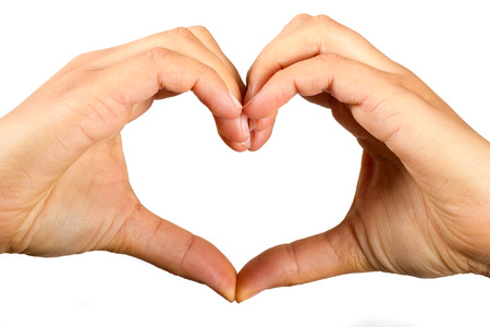 forme: Les mains dans la forme d'un coeur