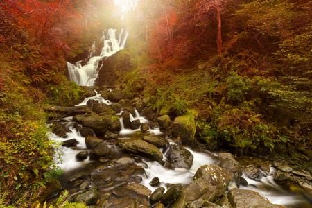 runnel: Torc waterfall during autumn in Killarney National Park, Ireland