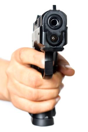 gunfire: Gun pointed at you