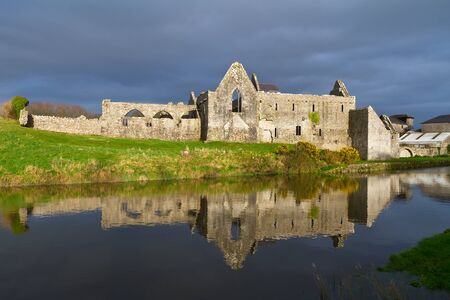 14th: 14th Century Franciscan Friary in Askeaton, Co. Limerick, Ireland Stock Photo