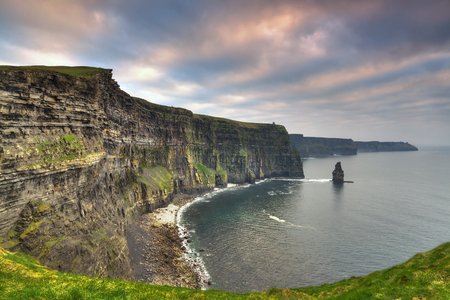 moher: Cliffs of Moher at sunset, Co. Clare, Ireland
