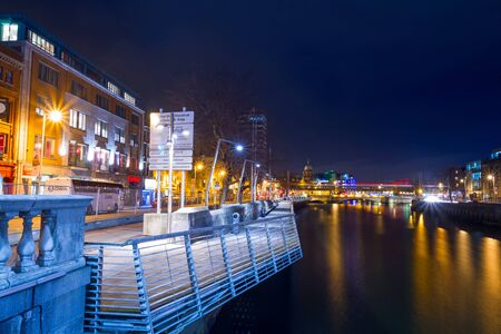 liffey: Architecture of city centre at Liffey river in Dublin, Ireland