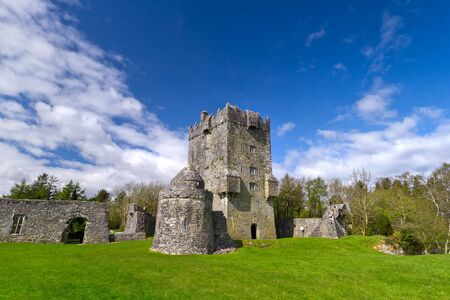 irish history: Aughnanure Castle in Co. Galway, Ireland Editorial