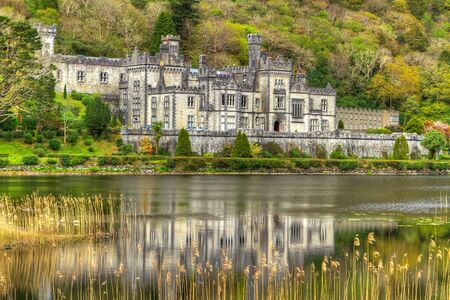 Kylemore Abbey in Connemara mountains, Co. Galway, Ireland