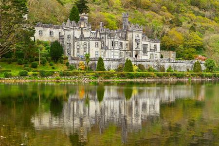 connemara: Kylemore Abbey in Connemara mountains, Co. Galway, Ireland