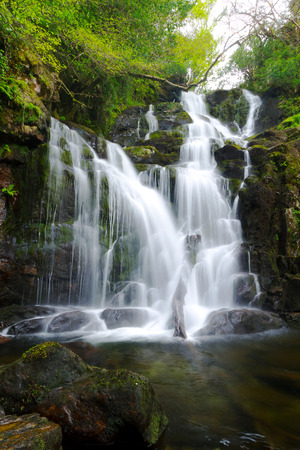 Torc waterfall in Killarney National Park, Ireland Stock Photo